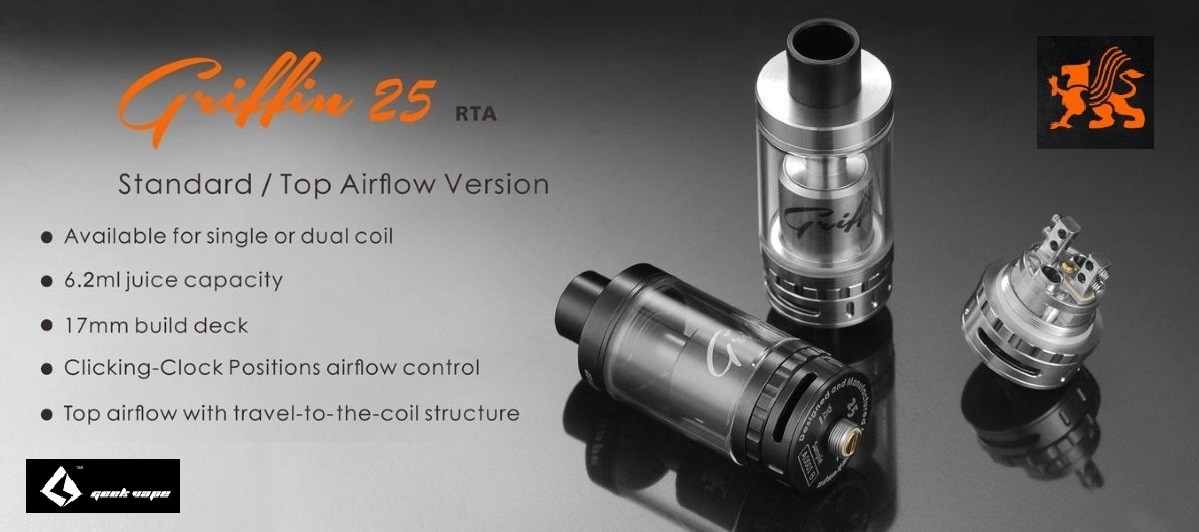 Griffin 25 Top Flow RTA – by GeekVape